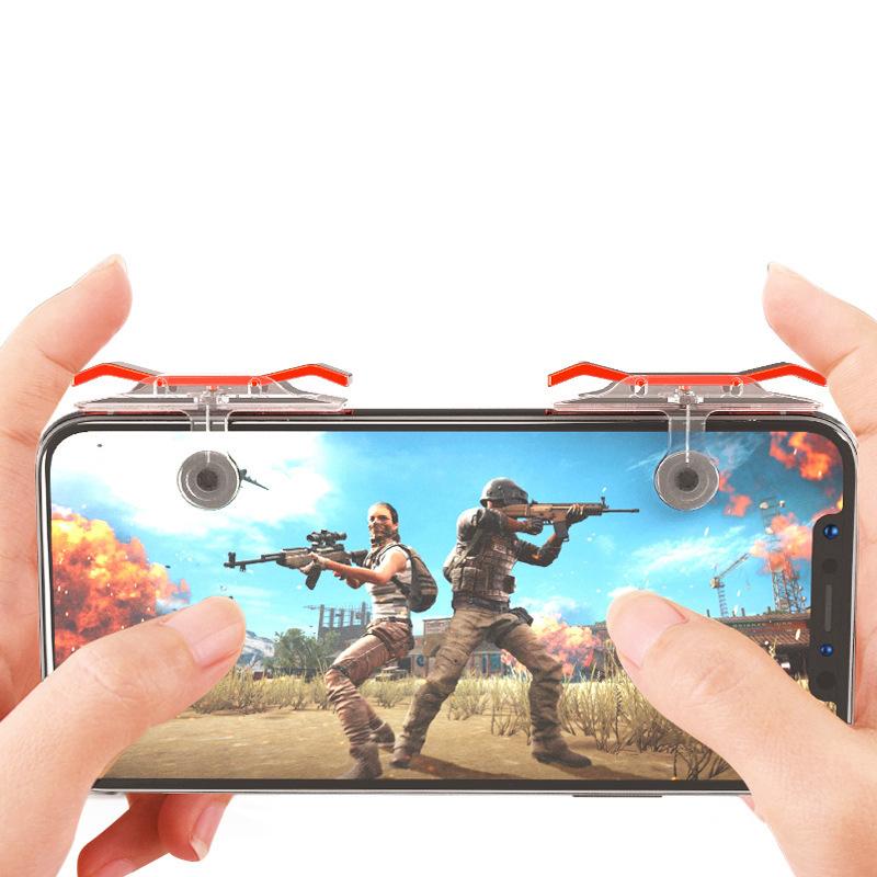 Bộ 2 Nút Chơi Game Pubg Mobile, Ros, Cf Dòng E9 Trong Suốt (Đỏ Hoặc Bạc) 15