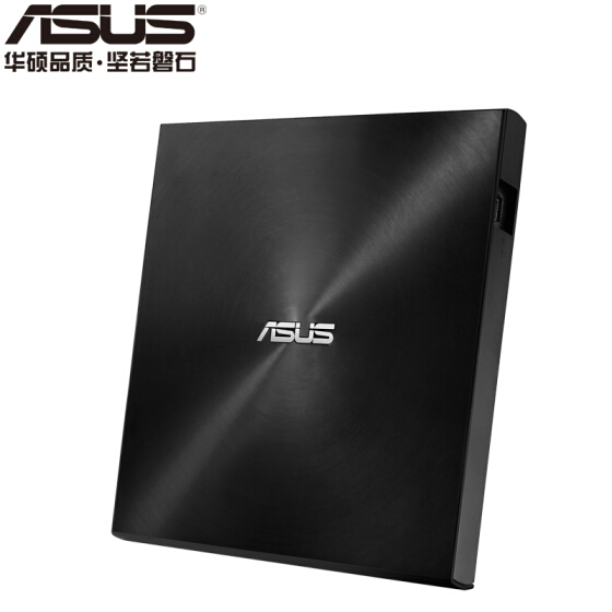 ASUS 8x USB2.0 External DVD Recorder Mobile Optical Drive Black (Compatible with Apple System/SDRW-08U7M-U)