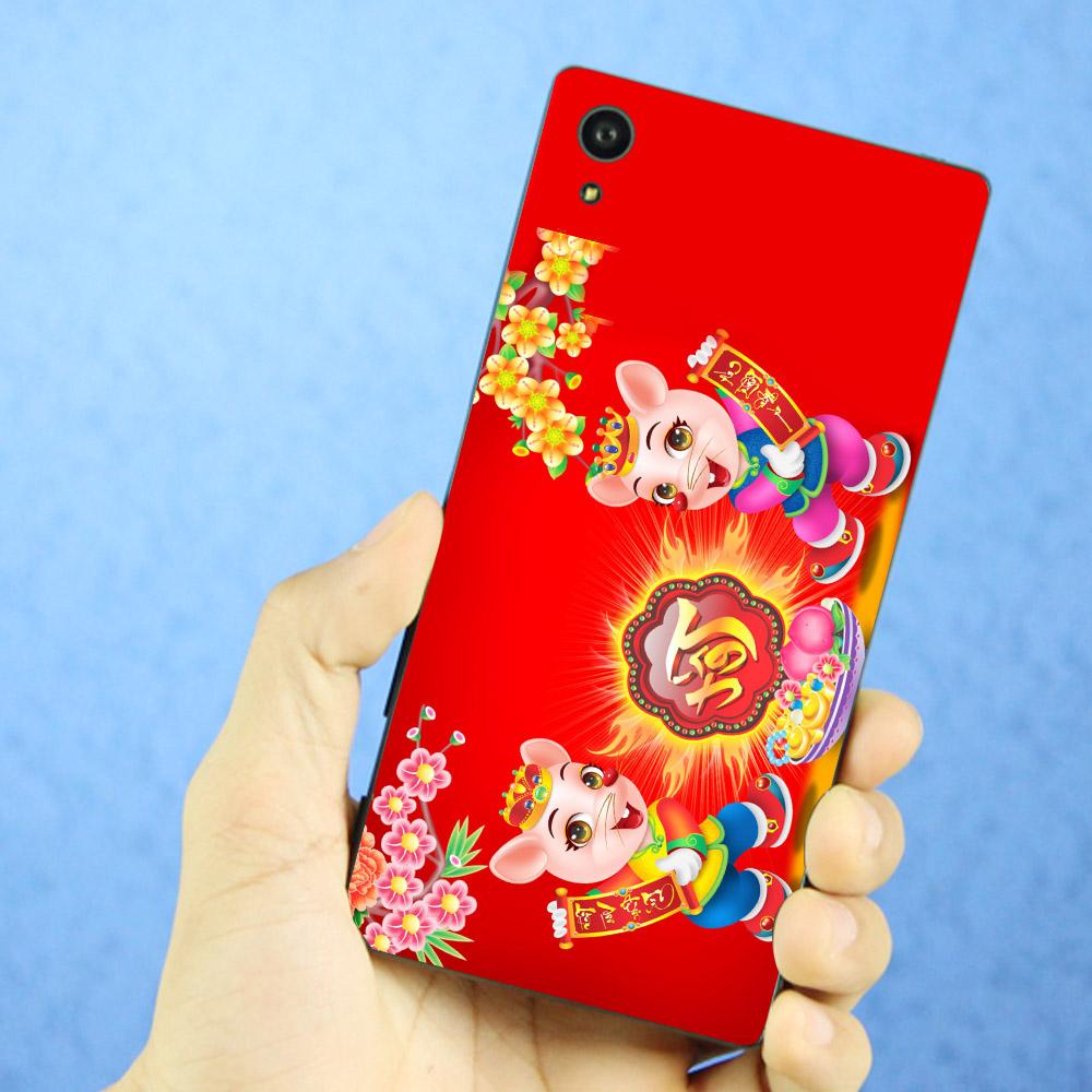 Ốp điện thoại dành cho máy Sony Xperia X - Chuột đón xuân 02 MS CDX02
