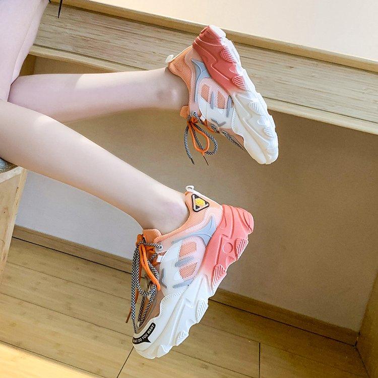 Giày thể thao nữ, giày sneaker nữ lưới đế 3 màu thời trang Hàn Quốc 2