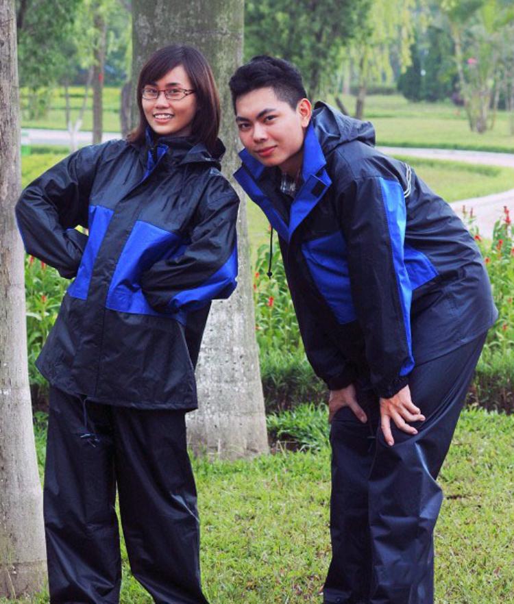 Áo mưa Aomua123 bộ vải dù 2 lớp 2 công dụng chống mưa và chống lạnh
