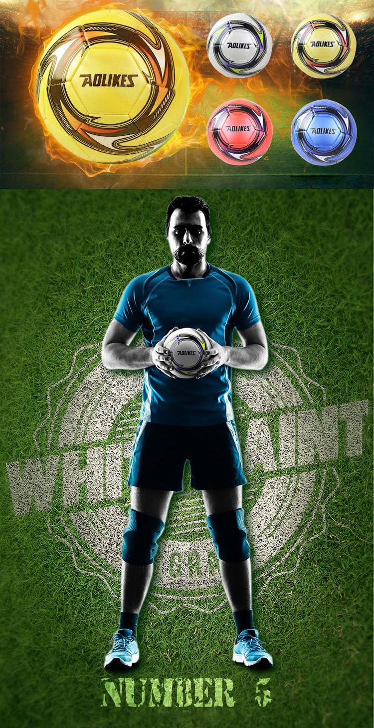Banh bóng đá Size 5 tiêu chuẩn Fifa Inspected AOLIKES YE-607
