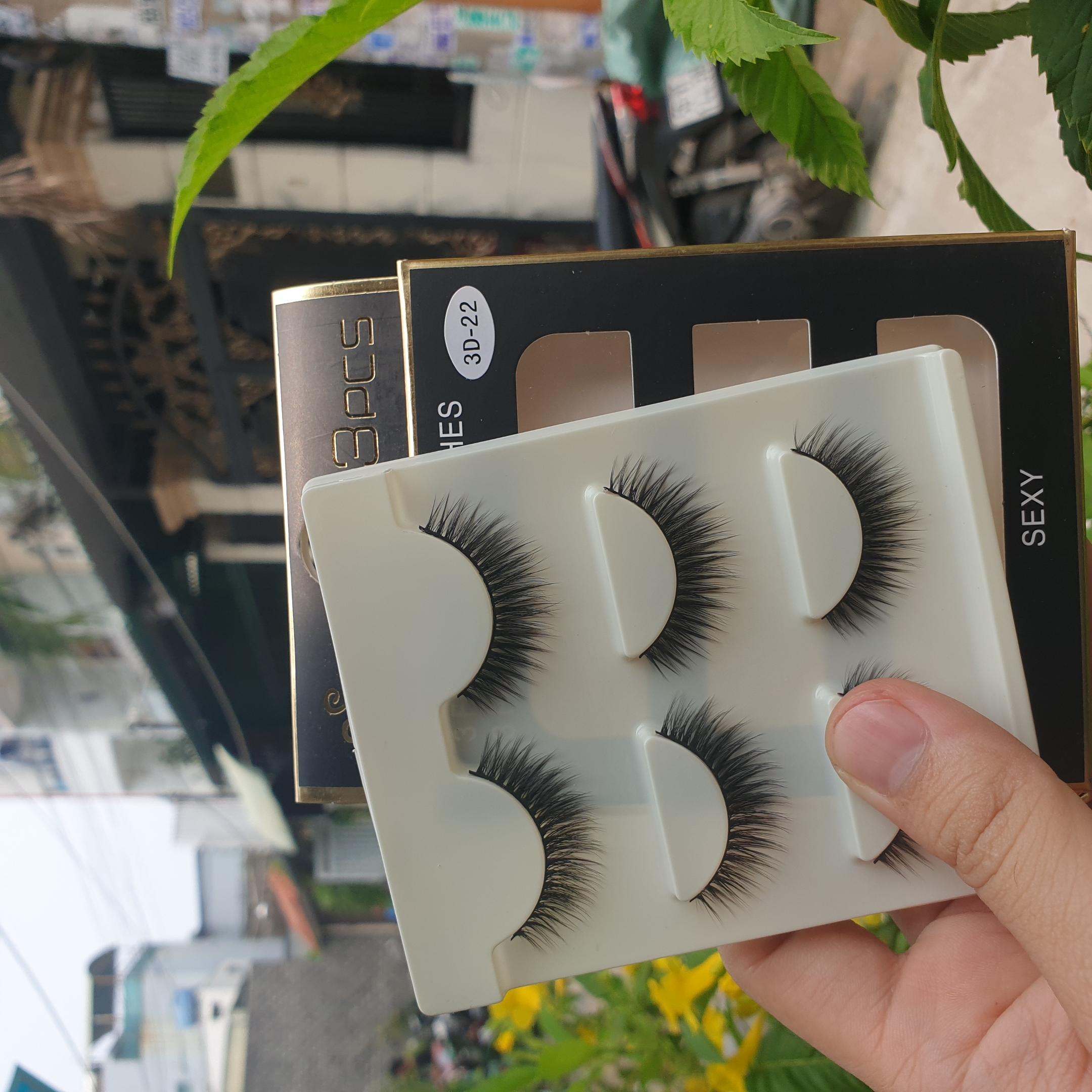 Lông mi giả lông chồn 3 Fashion Eyelashes 3 Faux-Cils 3D 1 bộ 3 cặp 88