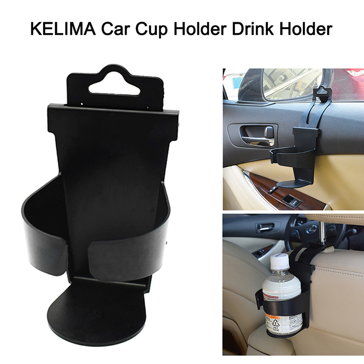 KELIMA Car Cup Holder Drink Holder Water Bottle Mount for Cup Bottle Can (Black)