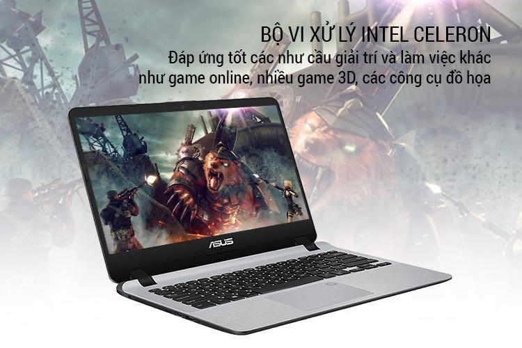 Laptop Asus Vivobook X407MA-BV043T Celeron N4000/Win10 (14 inch) - Gold - Hàng Chính Hãng