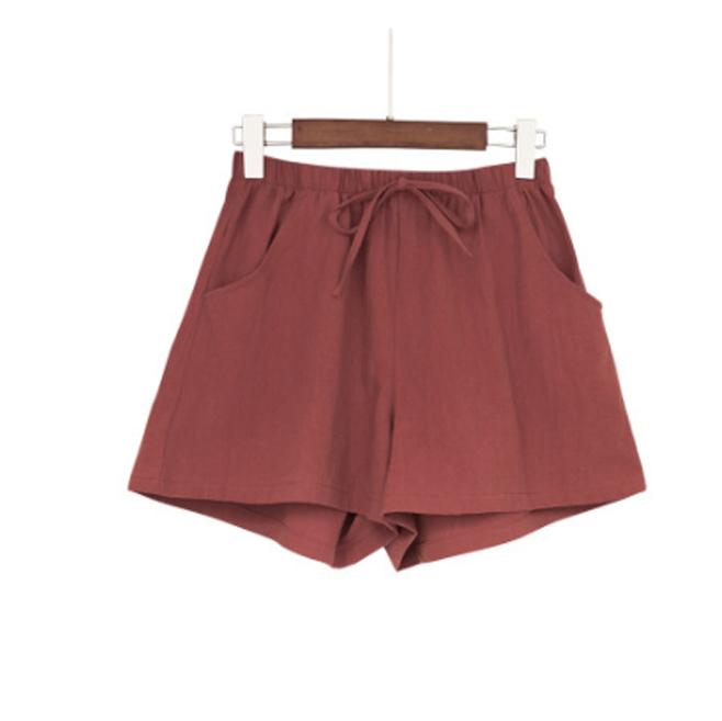 Quần đùi short nữ vải đũi thời trang mát mẻ mùa hè QĐ06 9