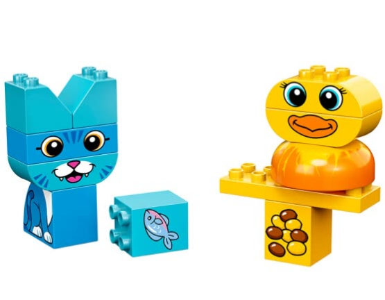 LEGO (Lego) building blocks Duplo DUPLO me and my pet 1.5-3 years old 10858 early education educational toys boys and girls birthday gifts big particles