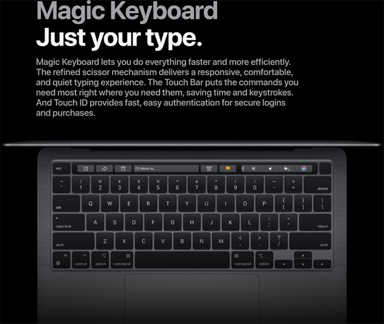 Apple Macbook Pro 2020 M1 - 13 Inchs (Apple M1/ 8GB/ 512GB) - Hàng Chính Hãng