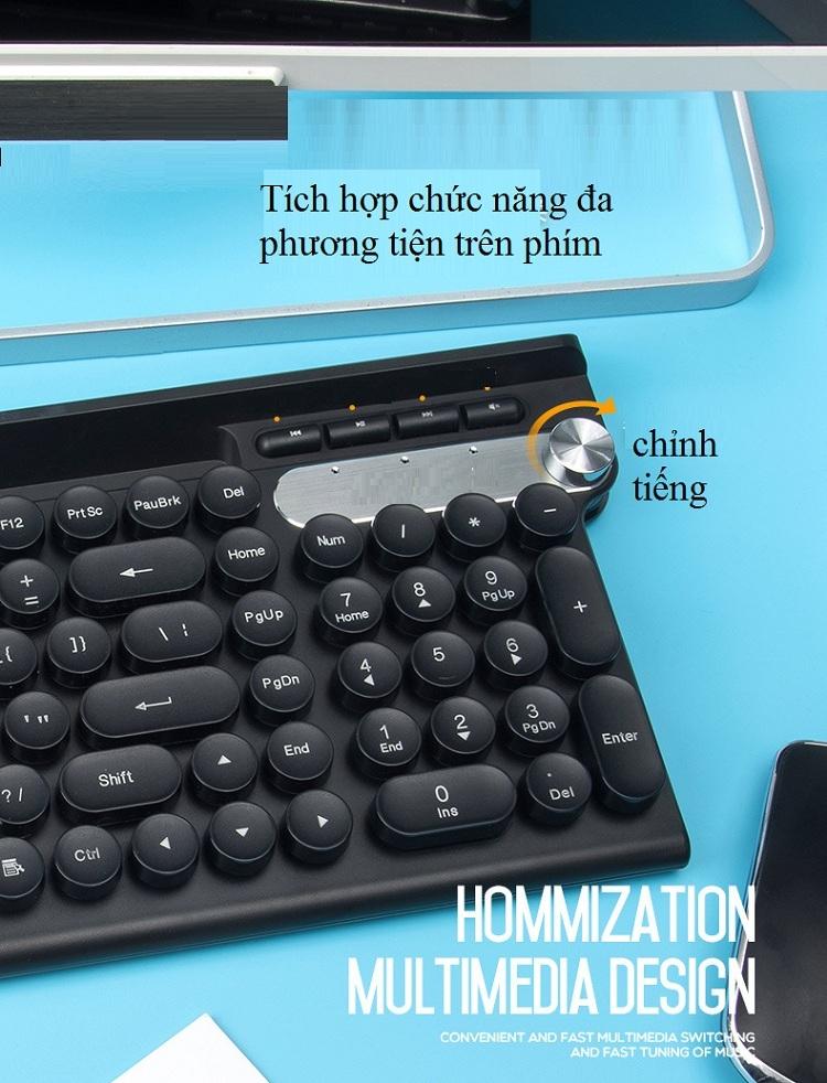 Bộ bàn phím và chuột không dây cao cấp -500 6