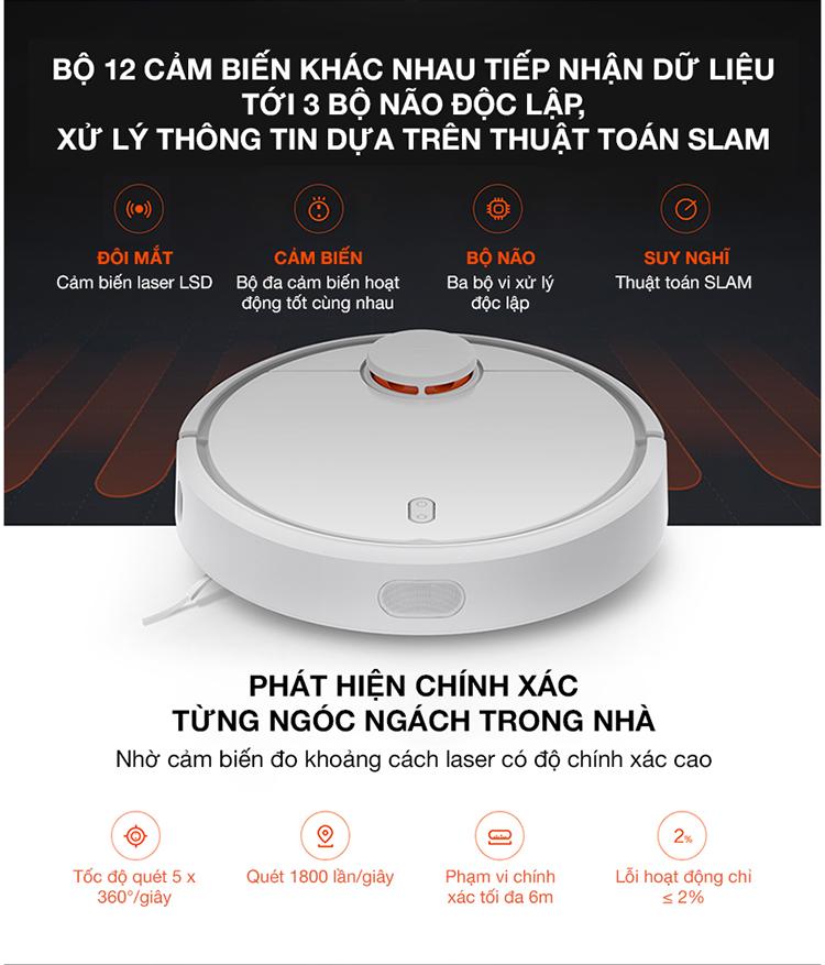 8dc1a94394b474ff19909a61cb244d93 Robot Hút Bụi Xiaomi SKV4022GL Mi Robot Vacuum - Hàng Chính Hãng