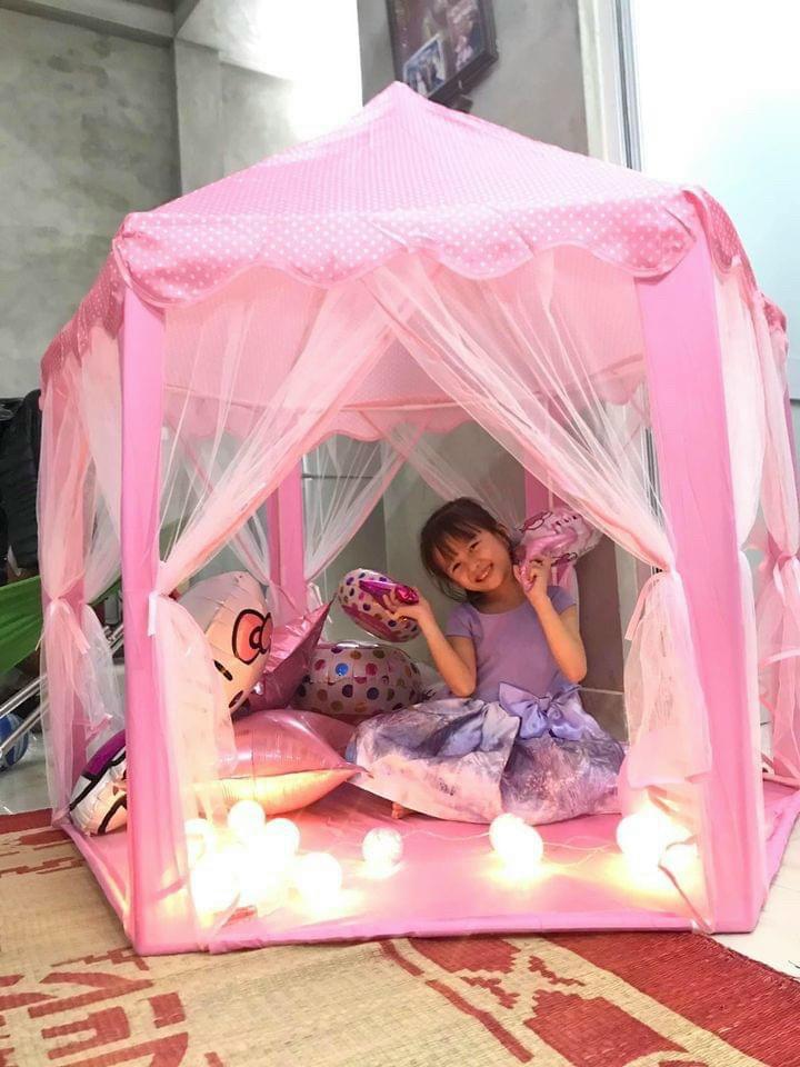 Lều công chúa cho bé yêu tặng kèm đèn nháy sao 3 mét trang trí 1