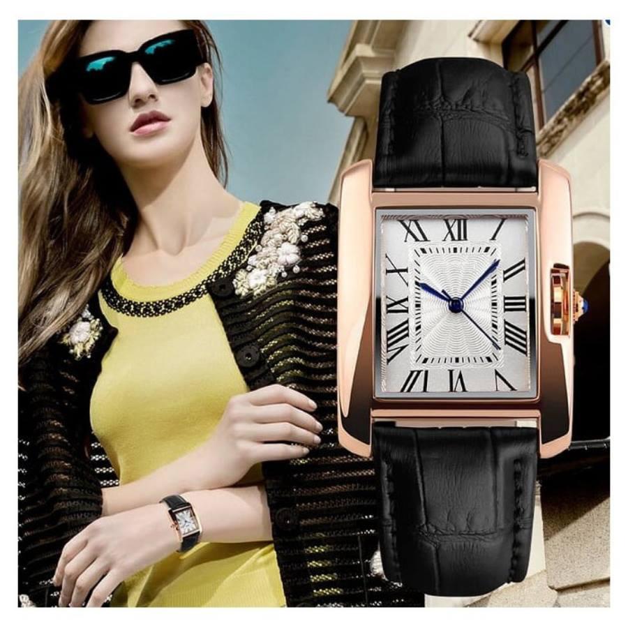 đồng hồ casio nữ dây da cao cấp