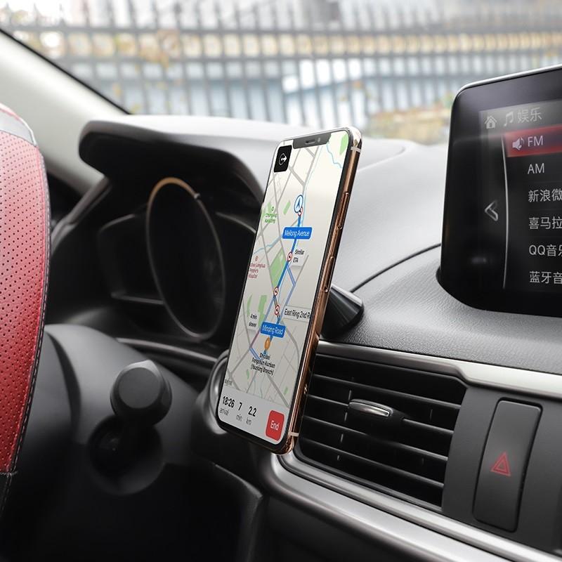Giá đỡ điện thoại trên ô tô hoco ca46 - Đế hít nam chân từ điện thoại xe  hơi - kẹp điện thoại trên oto chính hãng - Giá đỡ - Chân