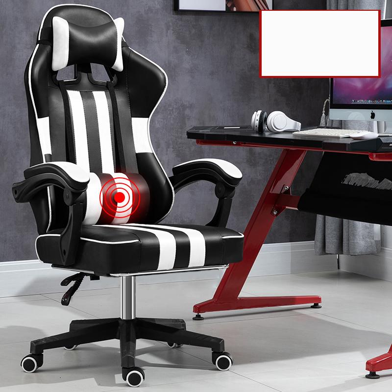 Ghế Chơi Game Bọc Da, Đệm Cao Su Non Cao Cấp - ghế gaming siêu cấp mẫu mới nhất -Ghế chơi game cao cấp dành cho game thủ chân xoay top362 4