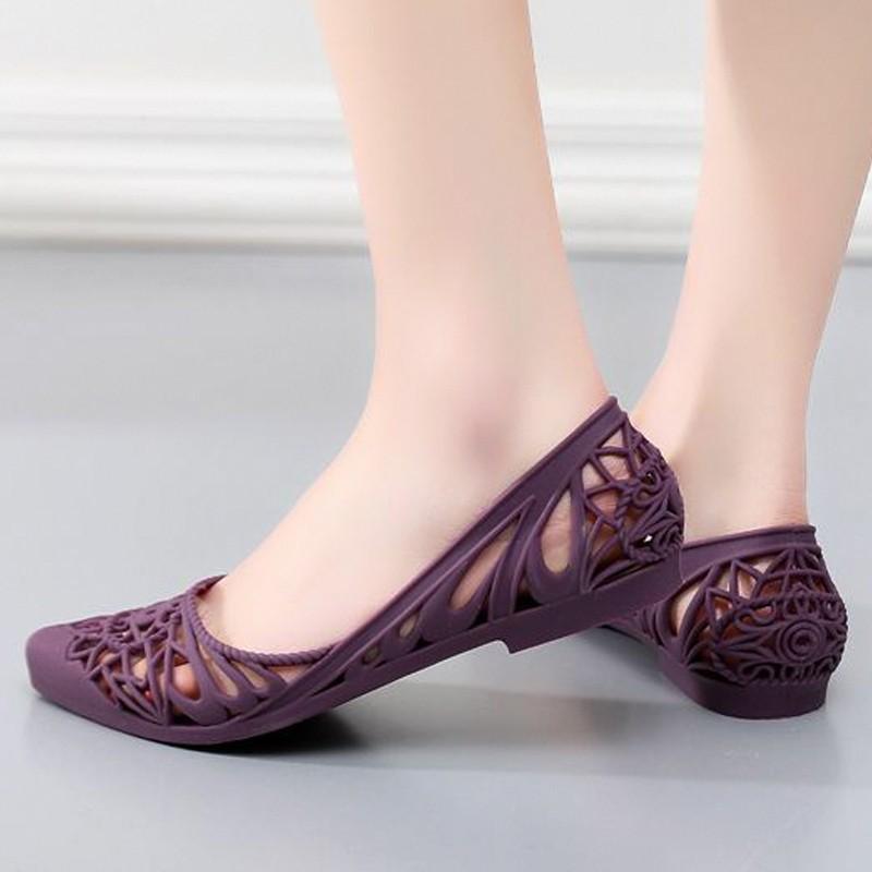 Giày búp bê đi mưa nữ hoa văn độc đáo , chất liệu nhựa cao cấp không trơn trợt 9600302 7