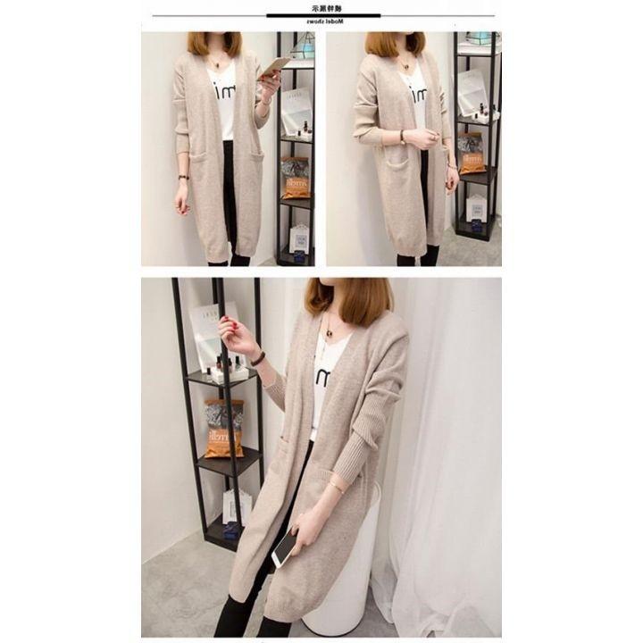 Áo len nữ cardigan dáng dài phong cách trẻ trung 7
