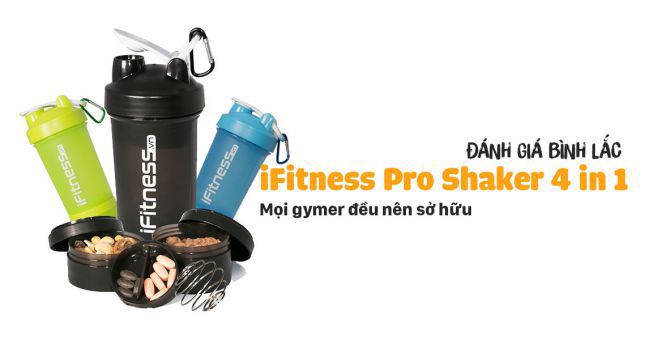 Bình Lắc Pro Shaker 4 Trong 1 iFitness PKIFBOT001
