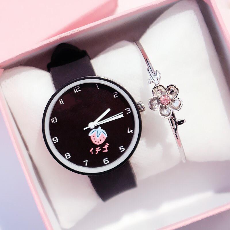 Đồng hồ nữ trái dâu Nhật Bản 4 màu thời trang 10