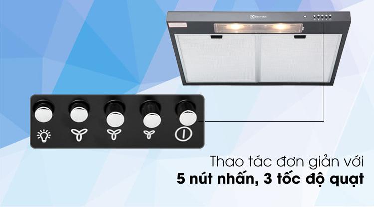 Máy Hút Mùi Electrolux EFT7516K - Đen - Hàng chính hãng