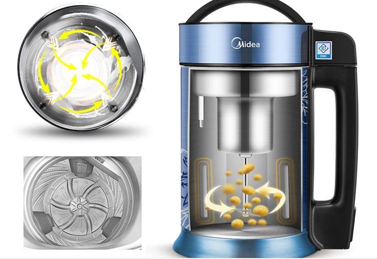 Midea (Midea) Soymilk household double stainless steel multi-function soy juice machine easy to clean DE12G13