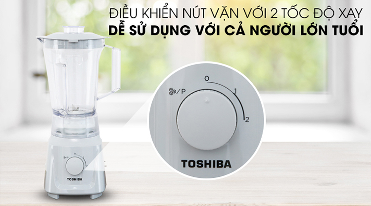 Máy Xay Sinh Tố Toshiba MX-60T(H) (600W - 1.5 Lít) - Hàng Chính Hãng