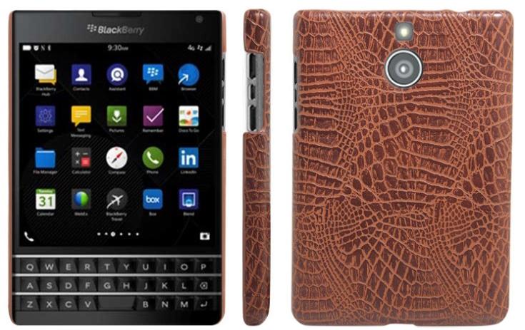Ốp Lưng Vân Cá Sấu Dành Cho Blackberry Passport Silver