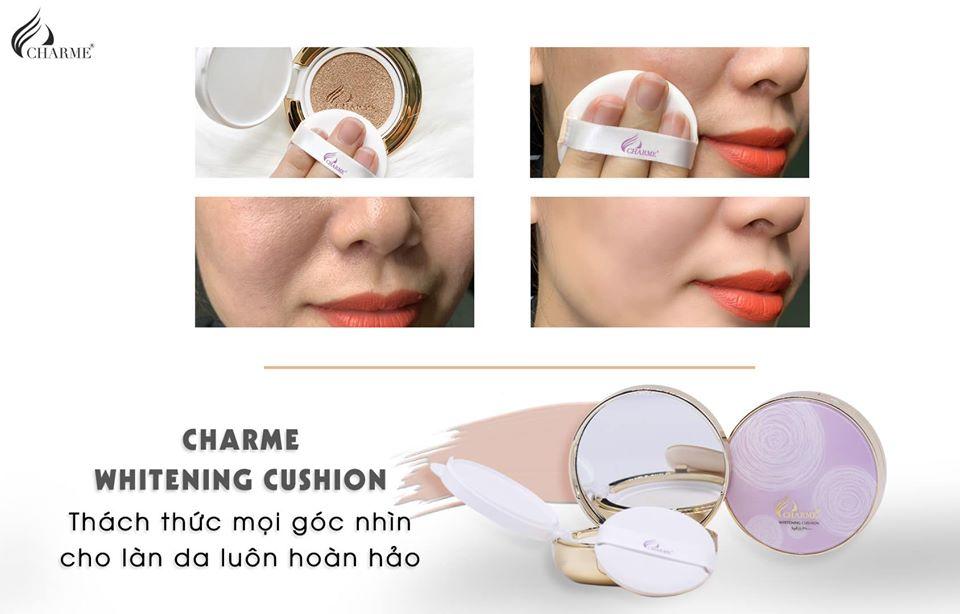 Phấn Nước Charme Whitening Cushion SPF 35 PA+++ 2