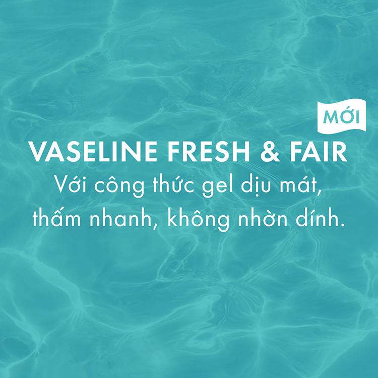Gel Dưỡng Thể Dịu Mát Trắng Da Vaseline Fresh & Fair 350ml