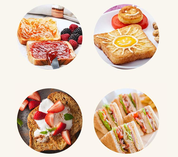 Xiaomi Deerma Bread Baking Machine Electric Toaster Household Automatic Breakfast Toast Sandwich Maker Reheat Kitchen