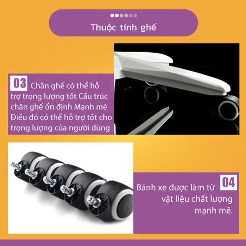 Ghế chơi game cao cấp, chân xoay ngã 135 độ dành cho game thủ có gối tựa đầu mẫu E03 Thái Lan (Hàng nhập khẩu) 21