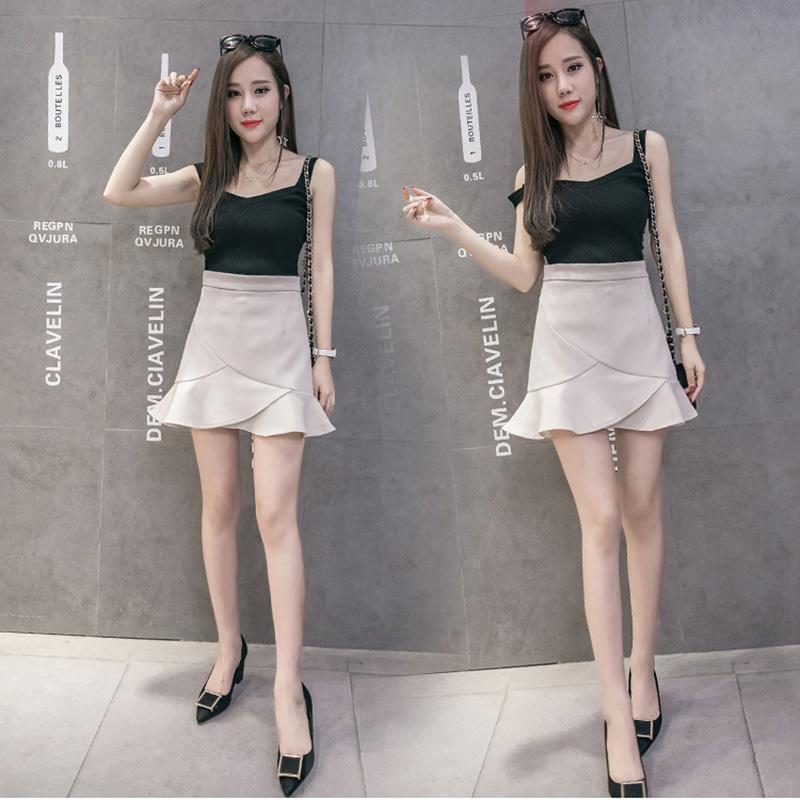 Chân váy công sở đẹp Louro L700, có lớp lót quần bên trong, dáng ngắn chữ A vẩy đuôi cá nhẹ, dễ kết hợp trang phục, đi làm đi chơi,tặng quần mặc trong váy cotton cao cấp 5