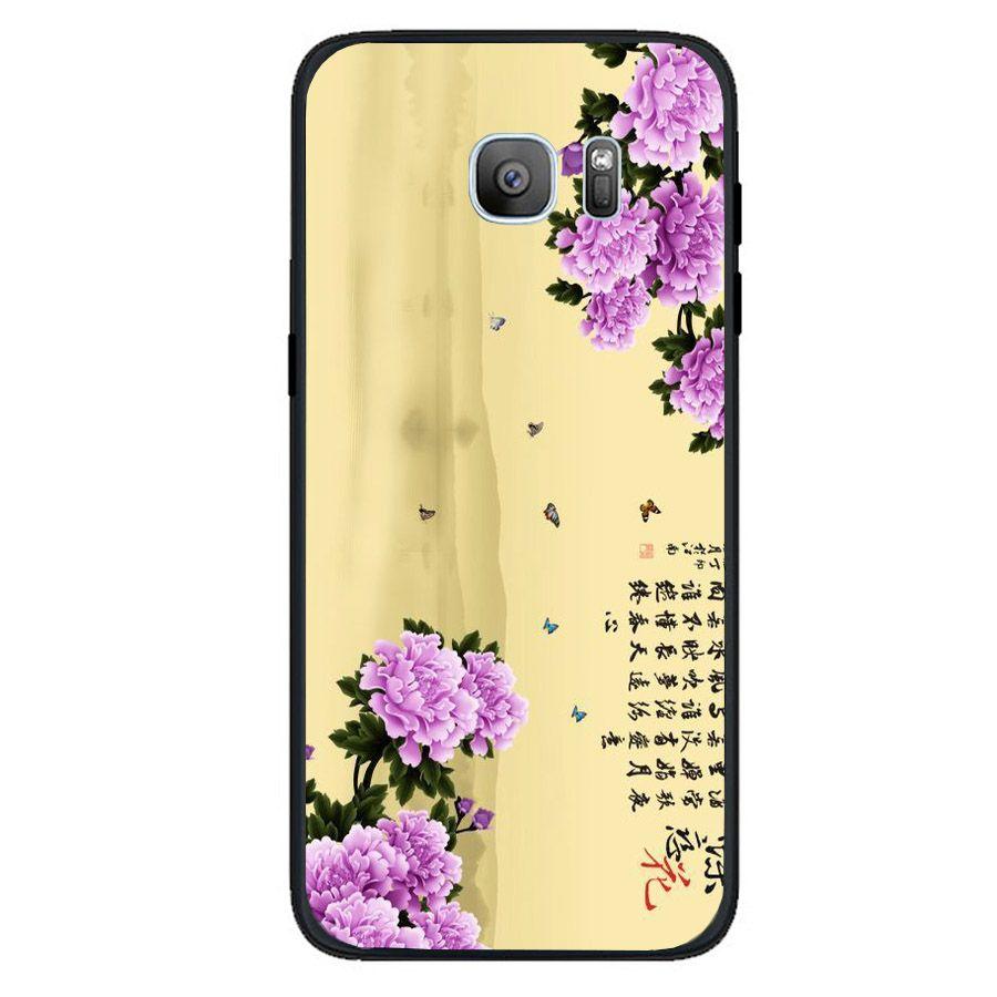 Ốp điện thoại dành cho máy Samsung Galaxy S6 - mẫu đơn MS MAUDON054