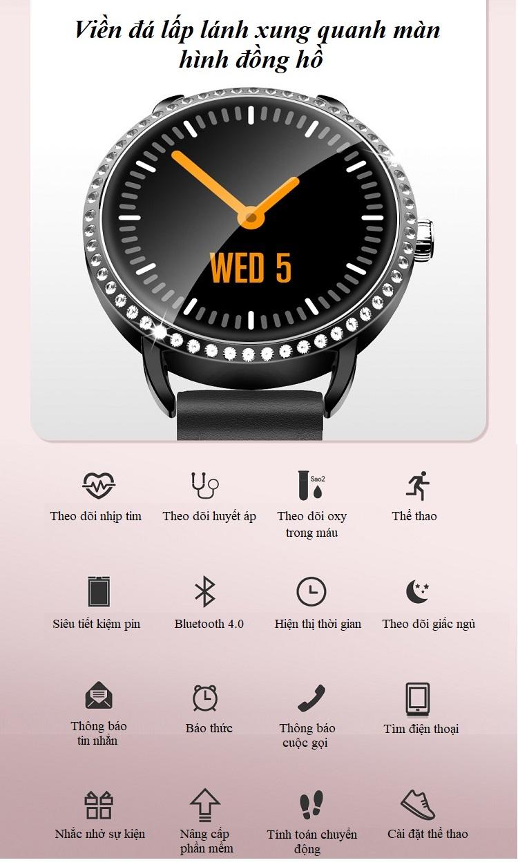 Đồng hồ theo dõi sức khỏe H7 (chống nước IP67) 4