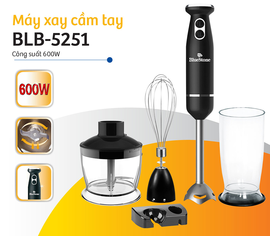 Máy Xay Sinh Tố Cầm Tay Bluestone BLB-5251 (600W)