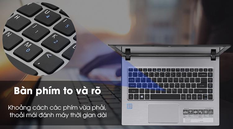 Laptop Acer Aspire 3 A315-54-57PJ/ Core i5-8265U(1.60 GHz/6MB)/ 4GBRAM/256GBSSD/ Intel UHD Graphics/ 15.6FHD/ Webcam/ Wlan ac+BT/ 3cell/ Win 10 Home/ Đen (Shale Black)/ 1Y WTY_NX.HEFSV.004 - Hàng Chính Hãng