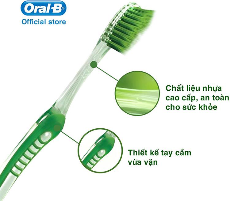 Bàn Chải Đánh Răng Oral-B Ultrathin Greentea Toothbrush Vỉ 1 Cây