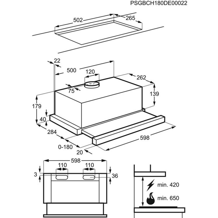 Máy Hút Mùi Âm Tủ Electrolux LFP316S - Hàng Chính Hãng