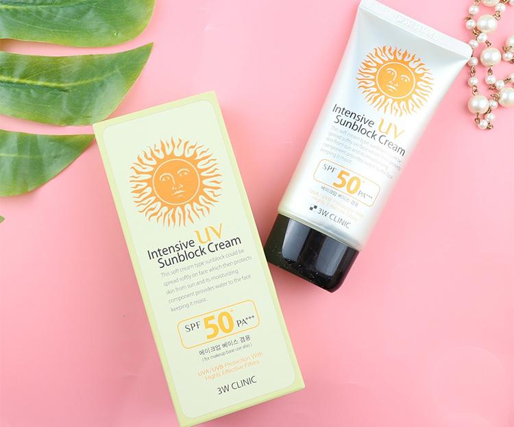Kem chống nắng 3W Clinic UV Sunblock Cream SPF 50+ PA+++ 70 ml