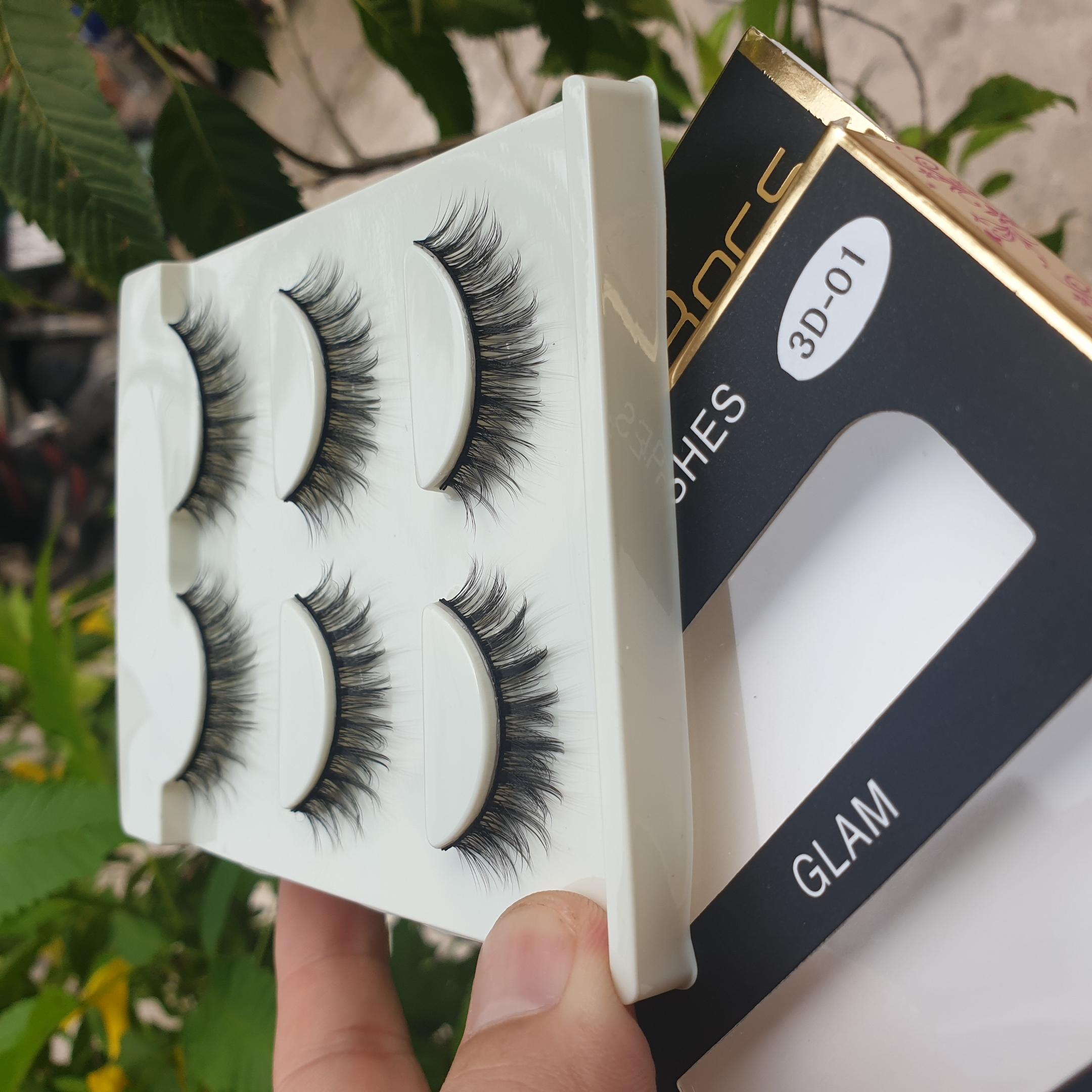 Lông mi giả lông chồn 3 Fashion Eyelashes 3 Faux-Cils 3D 1 bộ 3 cặp 7