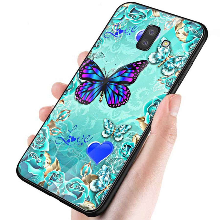 Ốp kính cường lực cho điện thoại Samsung Galaxy J4 - J6 - J6 PLUS - J6 PRIME - J8 - bướm đẹp MS ANH026