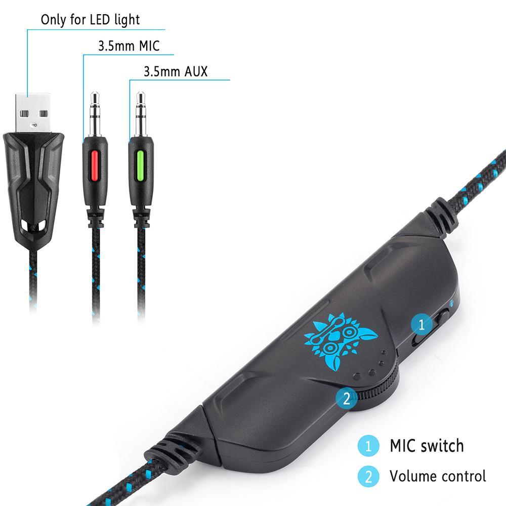 Tai nghe chuyên game ONIKUMA K1B đèn LED dành cho game thủ - Đập chết PLEXTONE PC780