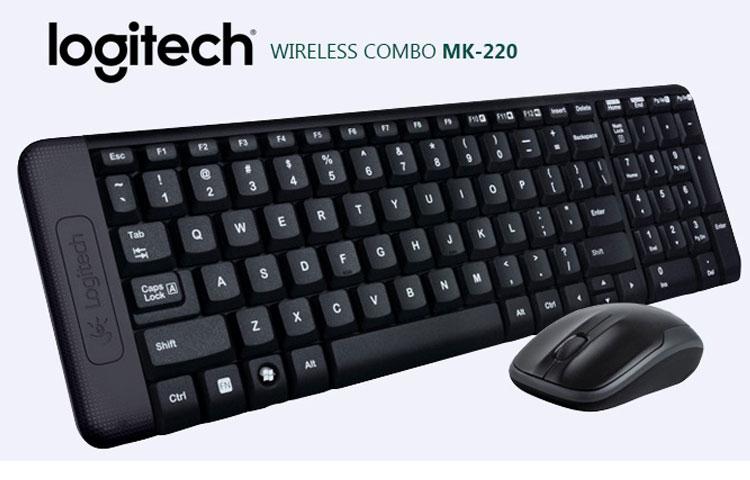 Bộ Bàn Phím Và Chuột Logitech MK220 Không Dây