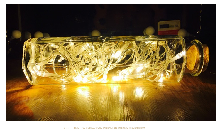Gong Xun battery LED6 meters Lantern flashing lights lights Festival lights Christmas lights Lantern stars lights wedding romantic decoration lights 6 meters 40 lights warm white battery