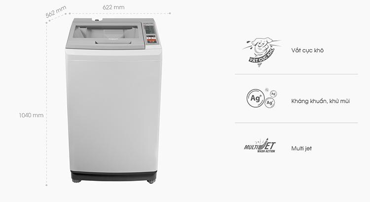 Máy giặt cửa trên Aqua AQW-K90AT-H (9kg) - Hàng Chính Hãng