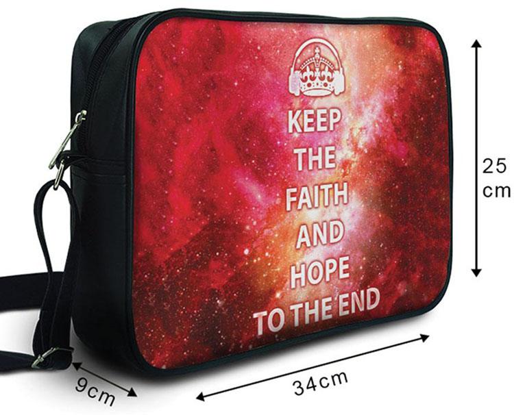 Túi Đeo Chéo Hộp Unisex TC Keep The Faith & Hope To The End - TCTE006