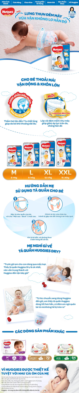 Combo 3 Tã quần Huggies Super Jumbo size M74 - 74 Miếng (6 - 11kg) 2