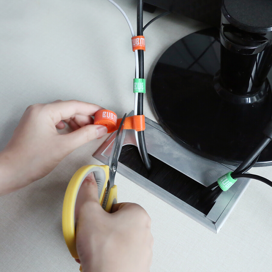 Combo 5 băng dán thu gọn dây điện BUBM 6 màu (1m)