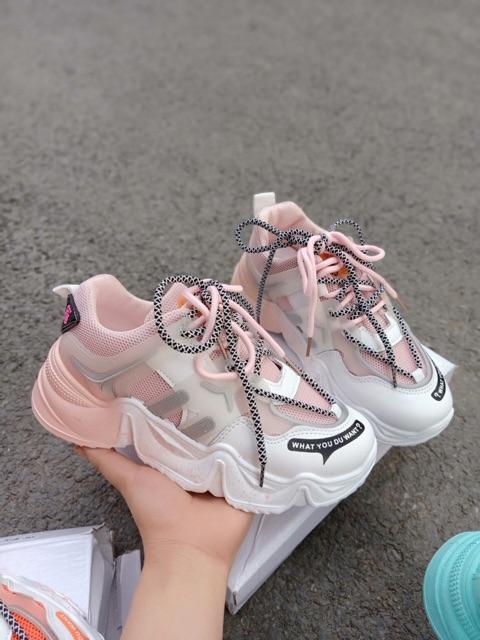 Giày thể thao sneaker nữ WHDYW màu sắc siêu đẹp, thời trang, nhẹ nhàng êm chân 4