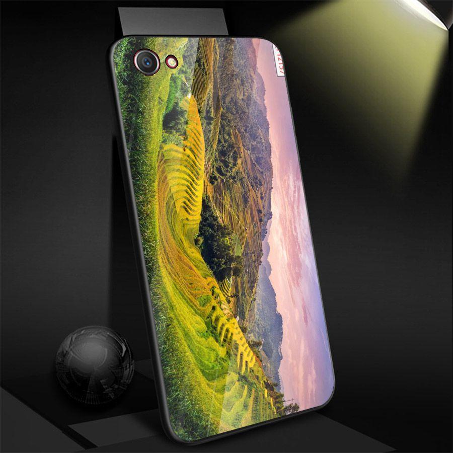Ốp điện thoại kính cường lực cho máy Oppo A79 - Quê Hương MS QHUONG014