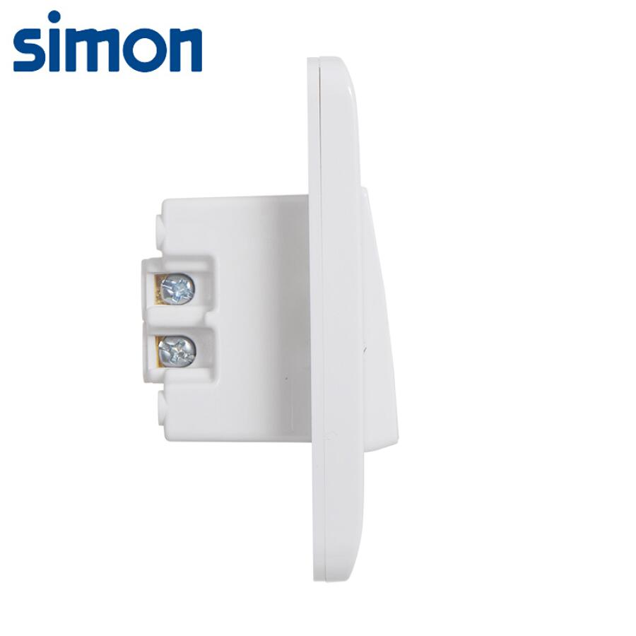 Simon (SIMON) switch socket panel C3 series one open single control switch type 86 panel snow mountain white C31011BY